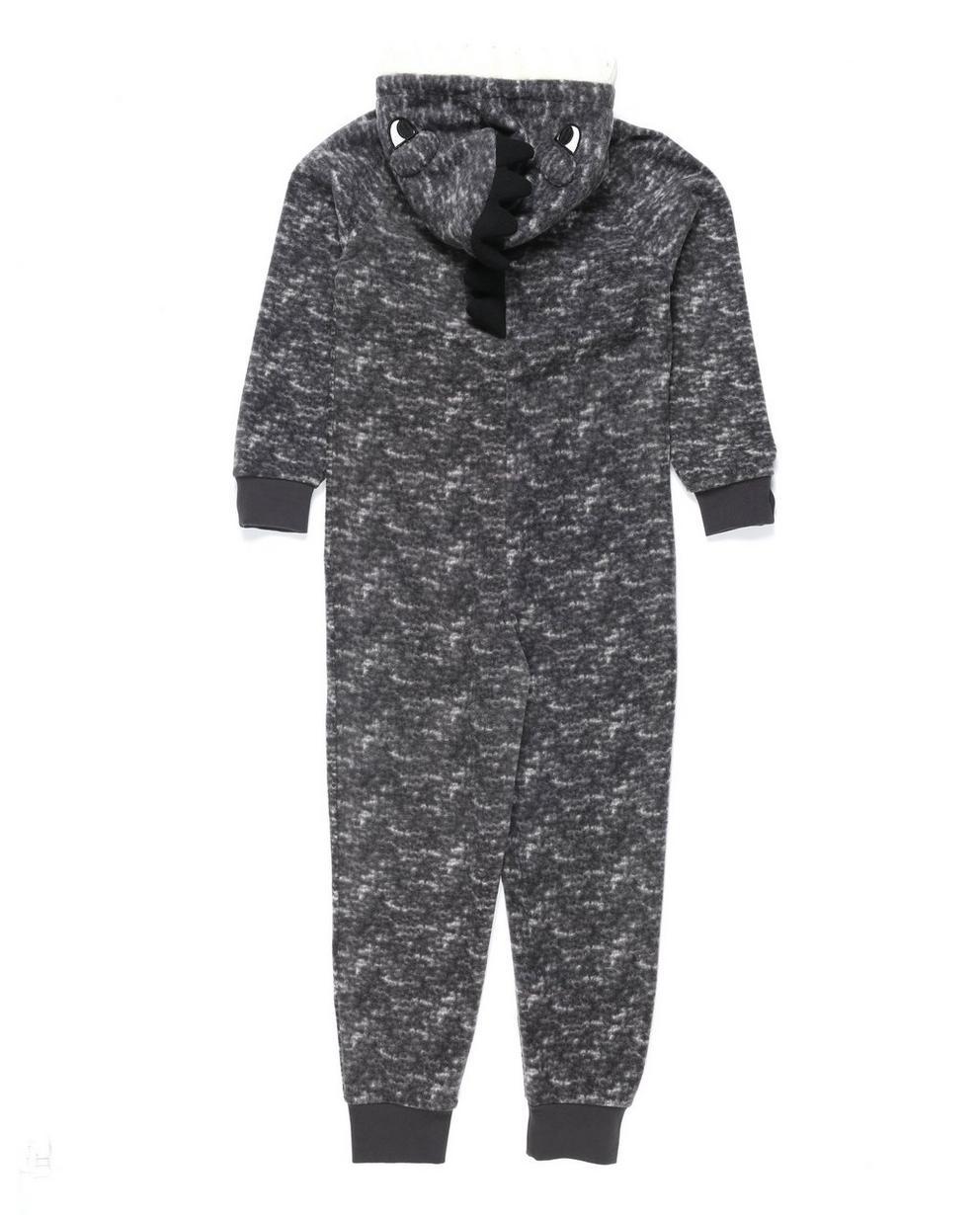 Nachtwäsche - Grau - Grijze onesie monster